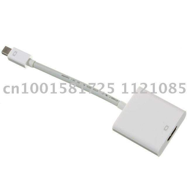 15cm Mini Displayport Male to HDMI Female Adapter Cable for Apple Laptop