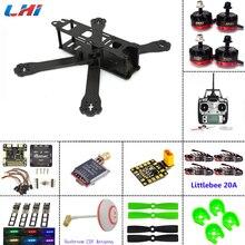 Carbon fiber frame DIY rc plane mini drone FPV 220mm quadcopter for QAV-R 220+F3 6DOF Flight Controller RS2205 2300KV Motor