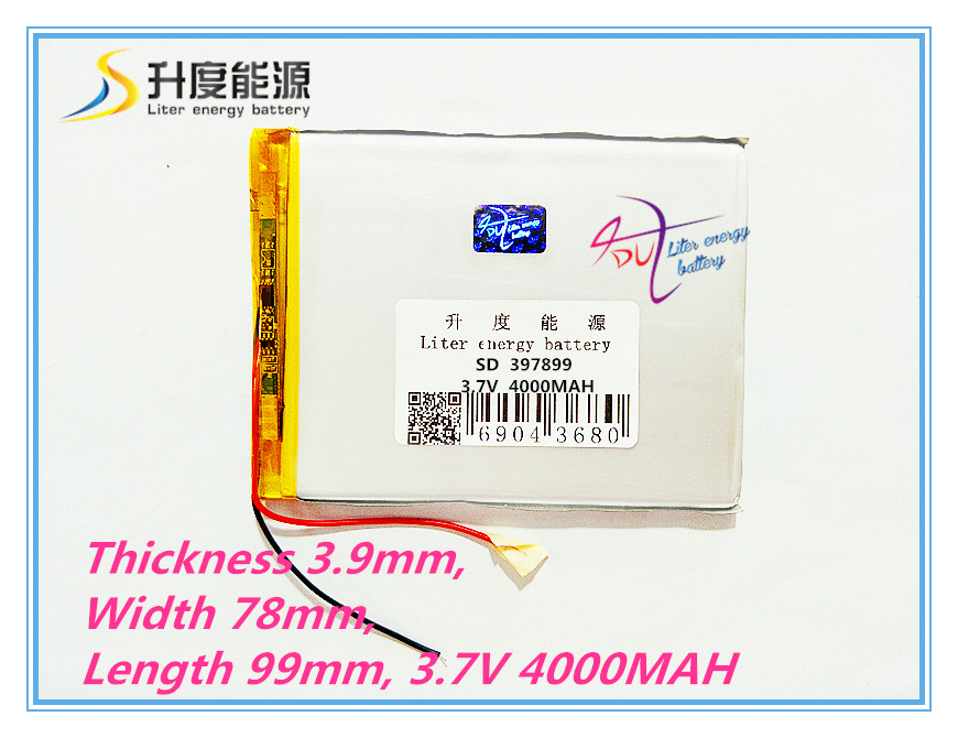 best battery brand Free shipping 3.7V <font><b>4000</b></font> <font><b>mah</b></font> 7 inch song mei G2 tablet MID quality products lithium-ion polymer battery 397899 image