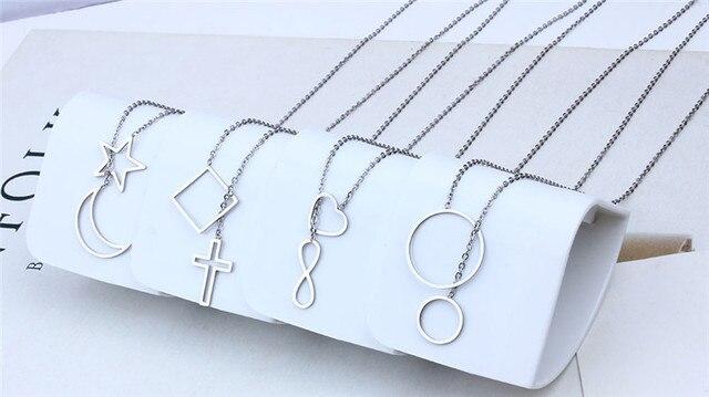 Женское Ожерелье цепочка из нержавеющей стали с Иисусом