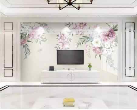 Personalizado papeles tapiz decoración del hogar personalidad pintado a mano acuarela flores moderno minimalista TV Fondo 3d papel tapiz