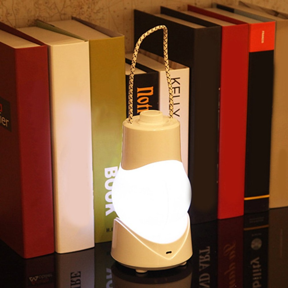 Dropshipping USB Rechargeable Dimmable Desk Lamp with Music Box Creative LED Night Light Portable Hanging Lamp Emergency Light