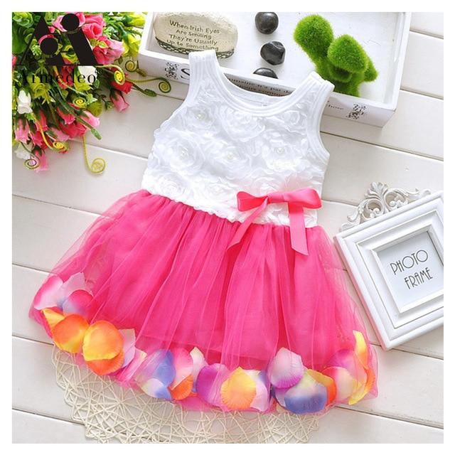 e90507562 Armedeo Fashion Summer Colorful Mini Tutu Dress Petal Hem Dress Floral  Clothes Princess Baby Dress Summer For Baby Dresses Girl