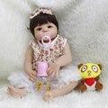 2017 Newest Style 23 Inch Princess Girls Full Body Silicone Vinyl Reborn Dolls Lifelike Girl Best Playmate With White Skin