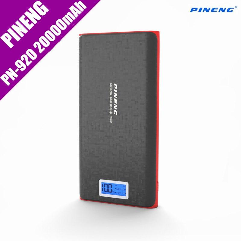 bilder für Original Pineng Energienbank 20000 mAh PN-920 Bewegliche Mobile Externe Ladegerät Dual USB Mit Taschenlampe Für Samsung Xiaomi