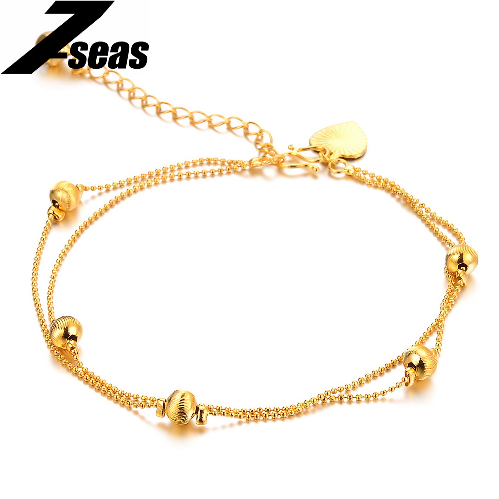 gold gift heart plated anklet pin for crystal color bracelet ankle real bracelets lovers women
