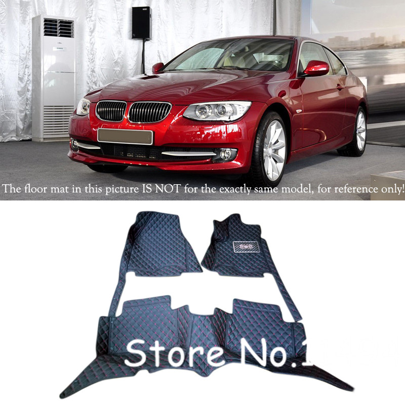 Custom Car Floor Foot Mats Accessories for BMW 3 Series 2010 2011 2012 E90 Special Waterproof Leather