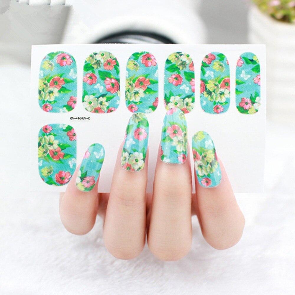 5pcs Pretty Flower Nail Art Decals Butterfly Nail Sticker Decoration