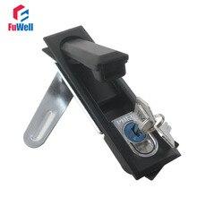 MS618 Cabinet Lock Black/Silver Color Aluminum Alloy 124mm Length Cabinet Plane Lock