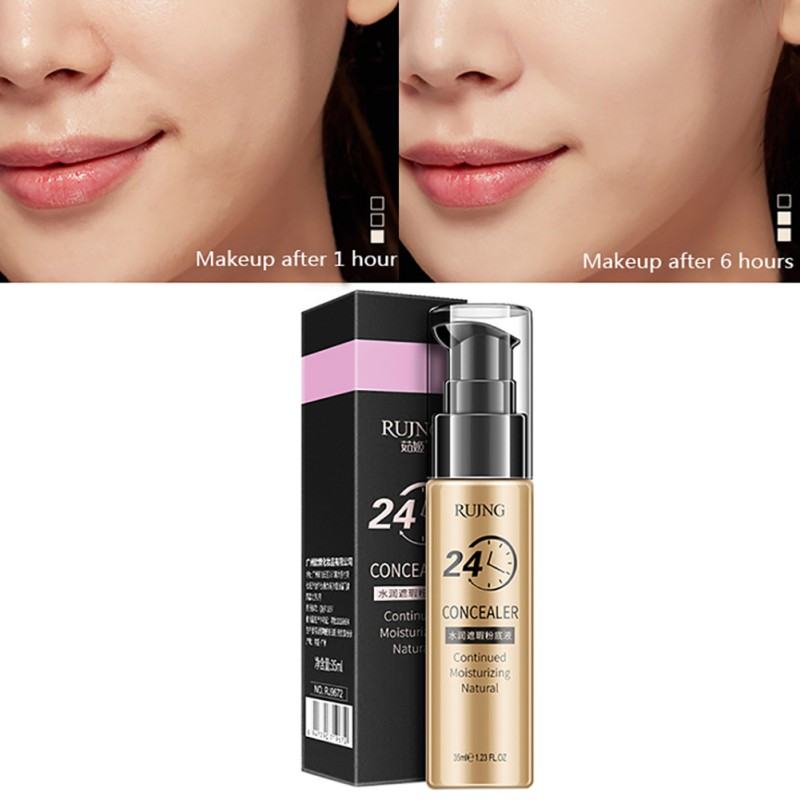 24h HD Foundation Long Lasting Oil Control Liquid Waterpoof Foundation Bright Colors Sunblock Highlighter Concealer Cream K8