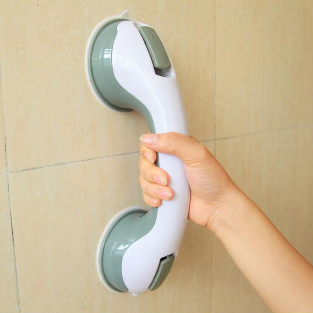 Bathroom Tub Super Suction Handle Shower Safety Cup Bar Handrail Portable Shower  Grab Bars Safety Handrails
