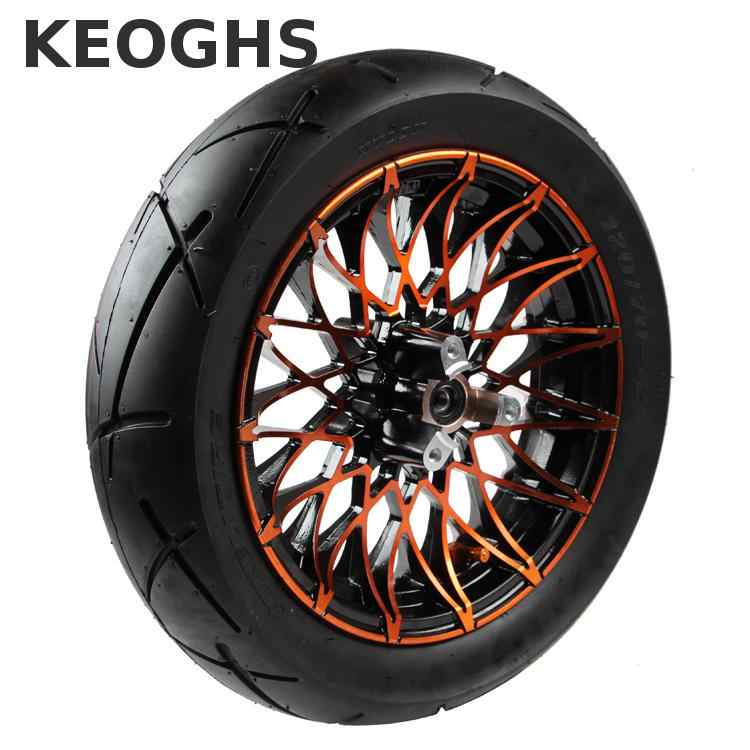Keoghs Motorbike 12 Inches Front Wheel Rim And Tyre 120/70-12 70mm Brake Disc Hole To Hole Install 6201 For Yamaha Scooter