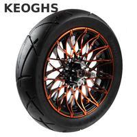 Keoghs мотоцикл 12 дюйм(ов) ов) переднее колесо обод и шина 120/70 мм 12 70 мм тормозной диск отверстие для отверстия установка 6201 для Yamaha скутер