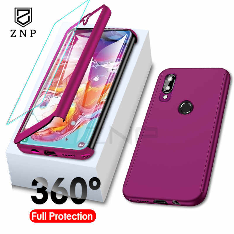 ZNP Full Cover Ốp Lưng Điện thoại Samsung A10 A20 A20E A30 A40 A50 A60 A70 Dành Cho Samsung M10 M20 m30 J4 J6 Plus A9 A7 2018 A8S