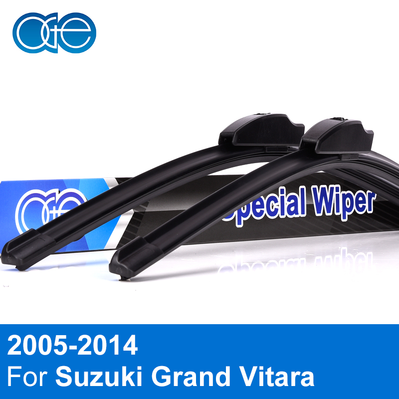 все цены на Oge Front And Rear Wiper Blades For Suzuki Grand Vitara 2005-2014 Windscreen Rubber Car Accessories онлайн