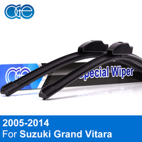 Combo Silicone Rubber Front And Rear Windscreen Wiper Blade For Suzuki Grand Vitara 1998 2016 Windshield