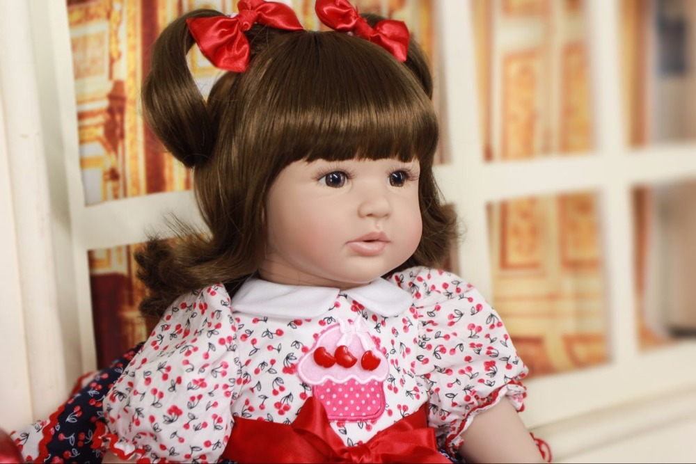 Short hair girl 24/61cm Doll Reborn Babies Doll For children Realistic Soft silicone Alive Reborn Baby Doll For Kids toy bjd Short hair girl 24/61cm Doll Reborn Babies Doll For children Realistic Soft silicone Alive Reborn Baby Doll For Kids toy bjd