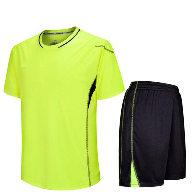 2018 New Summer Men Futbol Training Suits Soccer Jerseys Set Women Football Kits Blank Maillot De Foot Short Sleeve DIY Printing