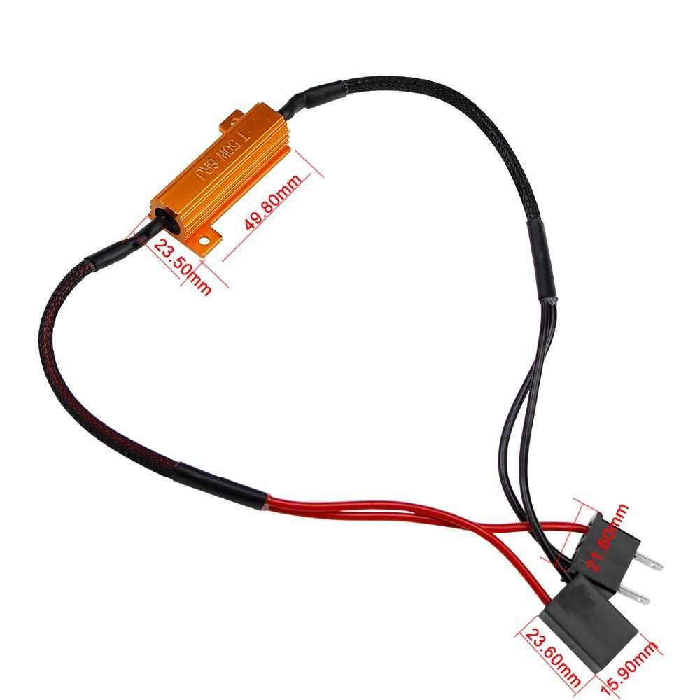 Geetans 1 пара 50 Вт H1 H3 H4 H7 H8 светодиодный декодер Canbus Бесплатный проводной компенсатор, декодер, свет, автомобильный нагрузочный резистор ошибка Canceller CJ
