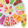 12 muster Gemischt Obst Nagel Bunte Schöne 3D Nagel Dekorationen Nail art Ornamente Blätter