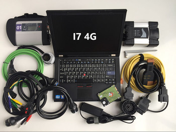 mb star c4 wifi next for bmw diagnostic tester 2in1 with laptop t410 (i7 4g) hdd 1tb software ready to use windows 7 64bit super