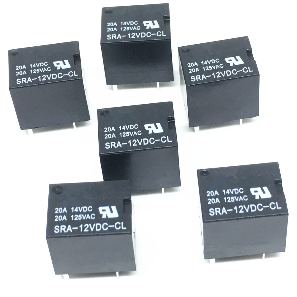 4pcs Songle Pcb Relay No Nc 5 Pins 5v 9v 12v 24v In Relays From Nais 12 Volt 5pcs For Dc Coil Power 20a Sra 12vdc Cl Wholesale