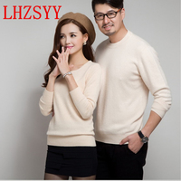 LHZSYY Cashmere Sweater Women Sweaters And Pullovers Women Fashion O Neck Solid Color Long Sleeve S