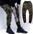 Men camo trousers pants streetwear Camouflage man Camouflage cross harem pants casual pants