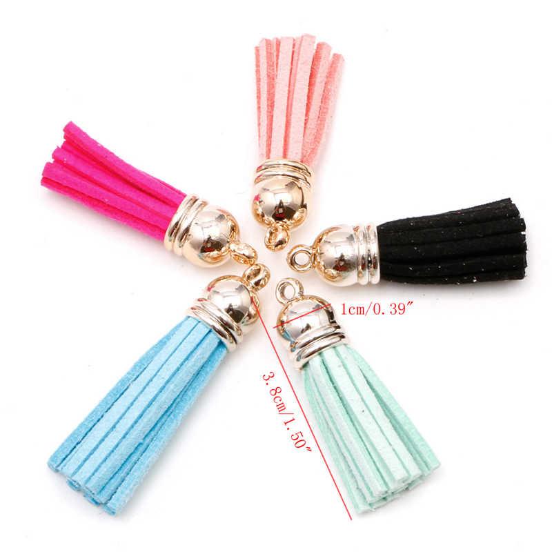 Nieuwe 10 Pcs Kleurrijke Kwastje Voor Sleutelhanger Mobiel Riemen Sieraden Charm Cap