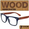 Óculos ópticos quadros das mulheres dos homens de madeira de madeira óculos de armação de prescrição pontos de tons occhiali masculino feminino