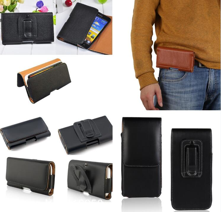Leather Pouch Holster Belt Clip Case For <font><b>Ginzzu</b></font> <font><b>ST6040</b></font> RS8502 RS9602 S5230 S5201 S5002 S5220 S5001 S4030 S5510 S5120 Bag image