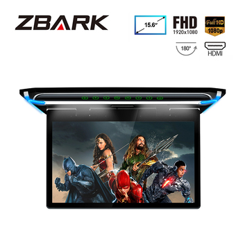 15.6″ Monitor 1080P Video HD Digital TFT Screen Wide Screen Ultra-thin Car MPV Roof Mounted HDMI
