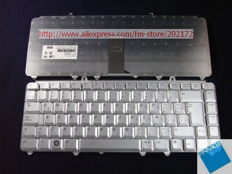 Used Look Like New Silver Laptop  Notebook Keyboard 0NK764 NSK-D901E 9J.N9382.01E For  Dell Inspiron 1420 1520 XPS M1330 (Spain) laptop keyboard for acer silver without frame bulgaria bu v 121646ck2 bg aezqs100110