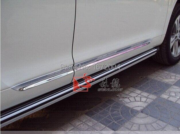 Нержавеющая сталь Средства ухода за кожей двери боковой молдинг планки для Toyota Highlander 2008-2010