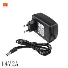 14 v 2a universal ac 100 v 240 v dc adaptador fonte de alimentação 14 v 1.5a 2a 28 w transformador curso adaptador de energia parede changer 5.5*2.5mm