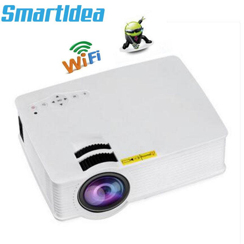 S90Wifi Portable Android 6.0 Wifi LED 3D Projector Smart Home Theater Beamer Multimedia Proyector Support Full HD 1080P Video-in LCD Projectors from Consumer Electronics