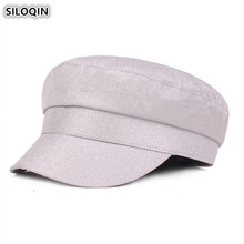Military-Hats Cap Flat-Caps Army Fashion Women's SILOQIN for Snapback Anchor Web-Red