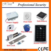 High quality cheap door access controller without software 125KHZ RFID card smart card access control system with door lock