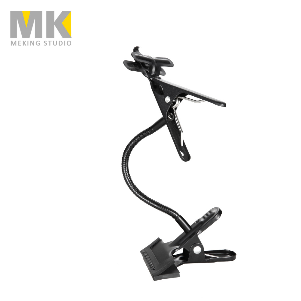 Background Holder Clamp Clip Camera Photo Studio Accessories Light Stand Flex Arm Reflector Magic Clamp
