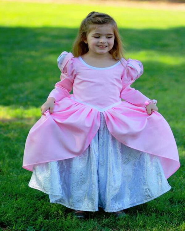 Girls Dresses Costume The Little Mermaid Ariel Pink Dining Gown Kids Princess Cosplay Party Fancy Dress