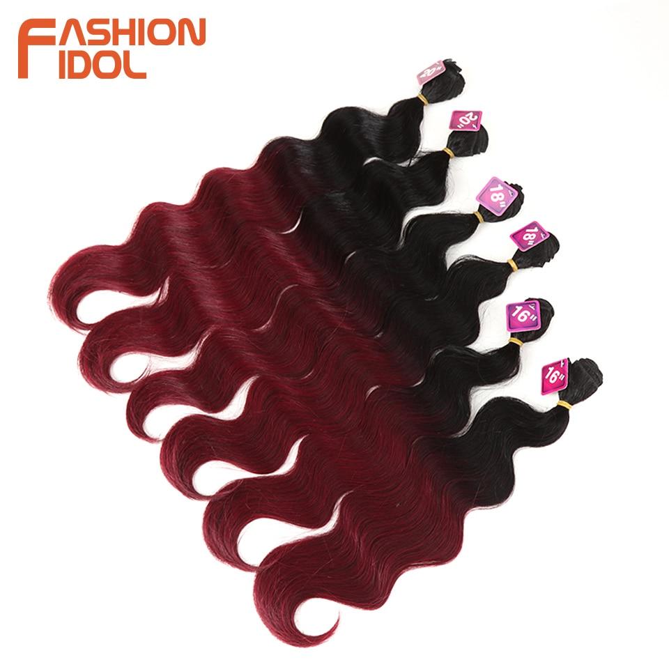 Extensão de cabelo sintético, pacotes de cabelo