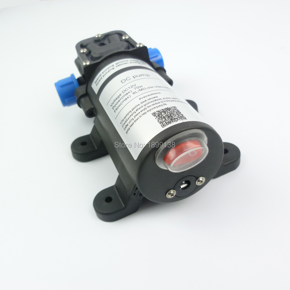 70W 6Lpm Diaphragm portable electric dc self priming mini 12v fuel transfer pump diesel oil transfer gasoline transfer цены