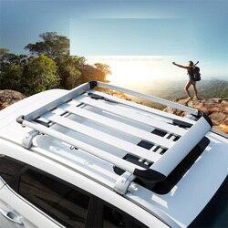 Rama Aluminiowa Bagażu na Dachu samochodu Bagażnik dachowy Uniwersalne Dachu Ramki podróży Rama Rama Obciążenia Obciążenia Ponad 70 kg Bagażniki dachowe Bagażu box