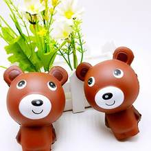 10cm Cute Bear Cartoon Soft Squishy Charms Milk Bag Toy Slow Rising for Children Adults Relieves Stress Anxiety Cabinet Decor(China)