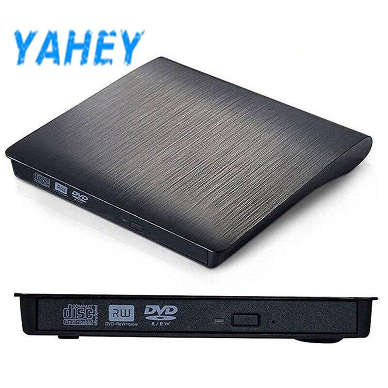 USB 2,0 External CD/DVD ROM Unidad óptica DVD RW escritor lector grabador Portatil para ordenadores portátiles PC windows 7/8/10