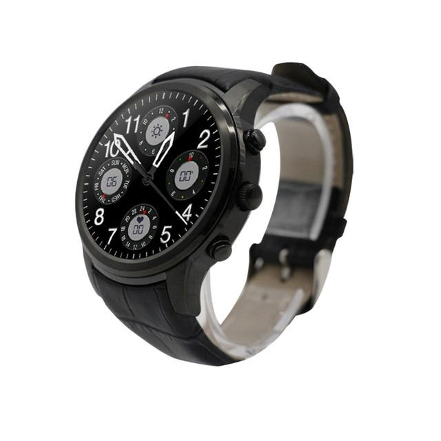 Оригинал Finow X5 3 Г Smart Watch Android 4.4 MTK6572 Dual Core 512 МБ + 4 ГБ 3 Г WI-FI Сердечного ритма GPS SmartWatch телефон PK KW88 DM368