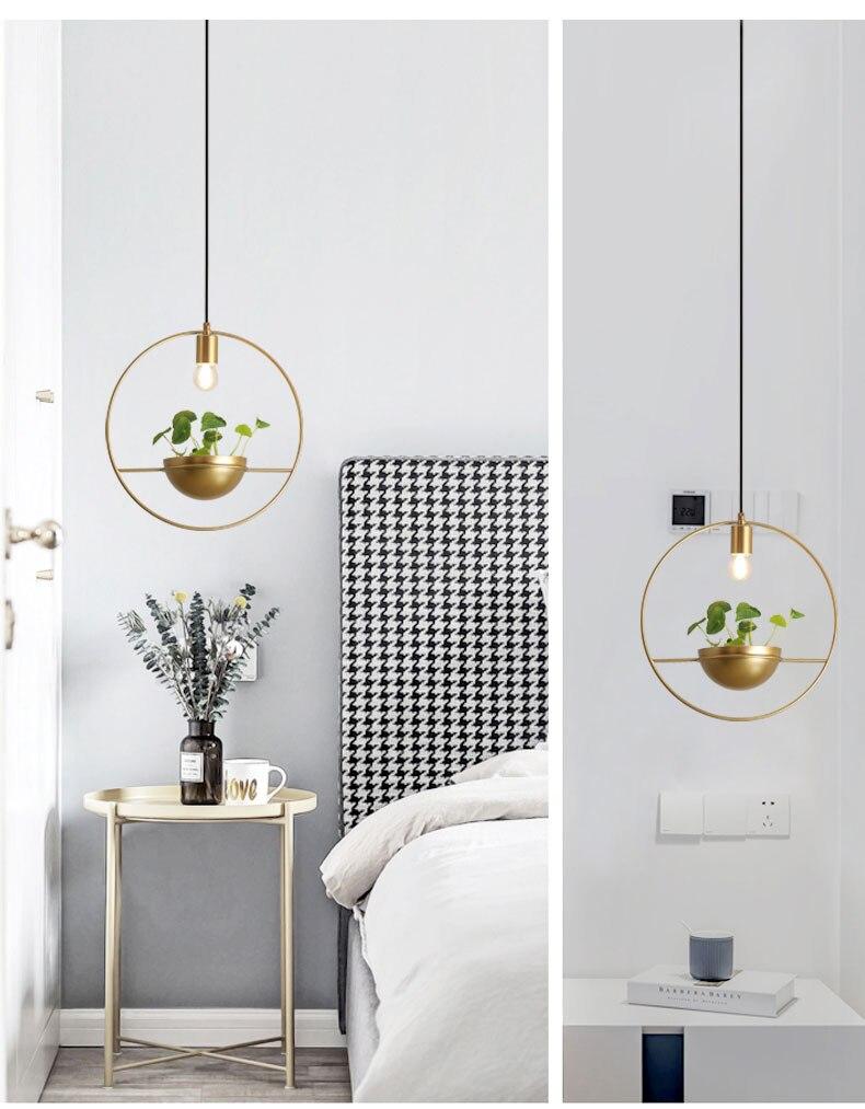 北欧餐厅灯简约创意个性吧台单头床头奶茶店服装店小吊灯植物灯具-tmall_05