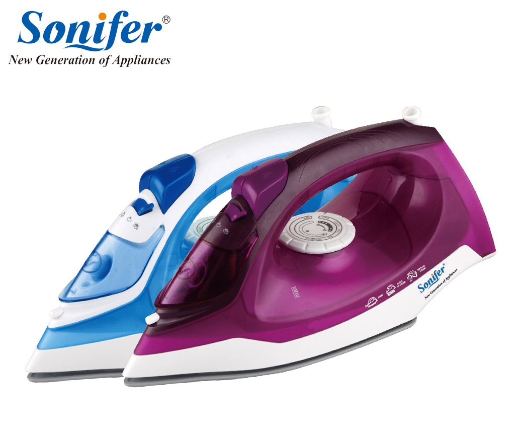 2000W Mini Colorful Portable Electric Steam Iron For Clothes 220V Three Gears  Ceramic soleplate Sonifer