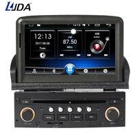 LJDA 1 din дюймов 7 дюймов Android 6,0 dvd плеер автомобиля для peugeot 307 2011 2008 Радио Аудио Bluetooth Canbus gps навигация Quad ядер