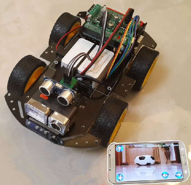 Smart Wifi Car 4wd Self Tracing Avoid Obstacles Wireless Remote